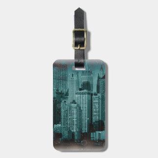 Nueva York - etiqueta dañada del equipaje del efec Etiqueta Para Maleta