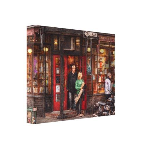 Nueva York - Greenwich Village - tres libros de la Impresión En Lona Estirada