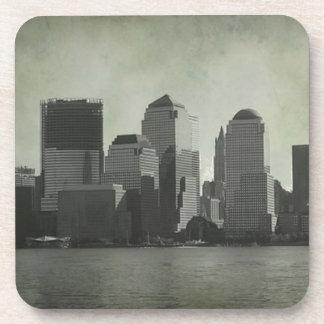 Nueva York horizonte B W vintage Posavaso