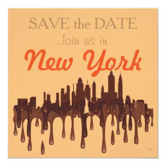 """NUEVA YORK, HORIZONTE CH DE NY - INVITACIÓN 5.25"""" X 5.25"""""""