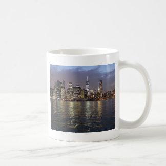 Nueva York horizonte Hudson River World Trade Cent Taza
