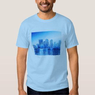 Nueva York, horizonte, iceblue Playera