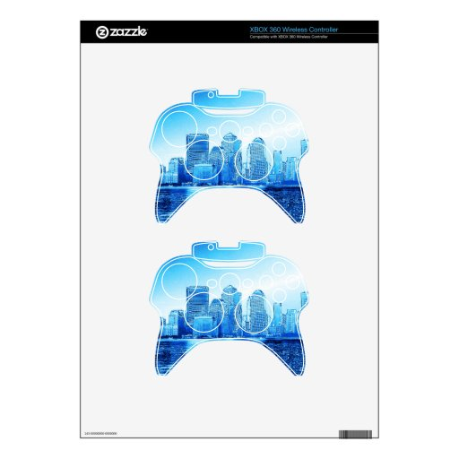 Nueva York, horizonte, iceblue Mando Xbox 360 Skins