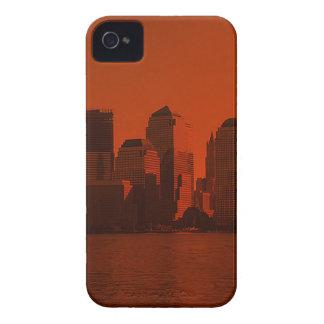 Nueva York, horizonte, rojo iPhone 4 Case-Mate Protector