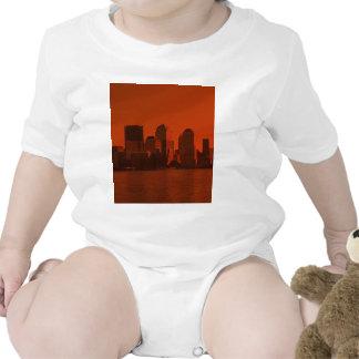 Nueva York, horizonte, rojo Camiseta