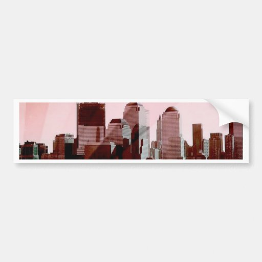 Nueva York, horizonte, suavemente rosa Pegatina Para Auto