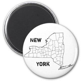 Nueva York Imán Redondo 5 Cm