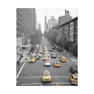 Nueva York Impresión En Lona Estirada