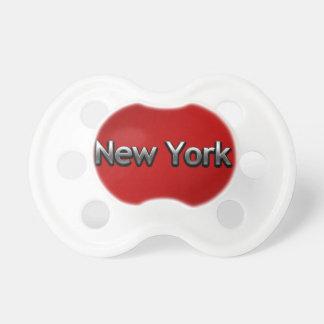 Nueva York industrial - en rojo Chupete De Bebe