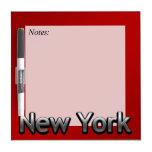 Nueva York industrial - en rojo Pizarra Blanca