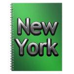 Nueva York industrial - en verde Libro De Apuntes