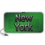 Nueva York industrial - en verde Portátil Altavoz
