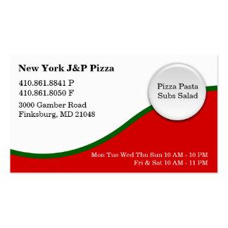 Nueva York J y pizza de P - NUEVA Tarjeta De Negocio