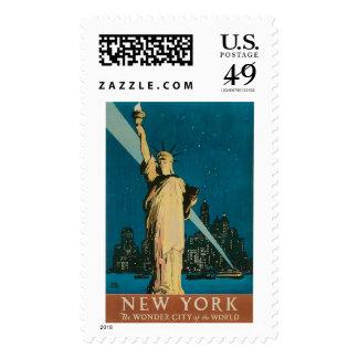 Nueva York:  La ciudad de la maravilla del mundo Timbres Postales