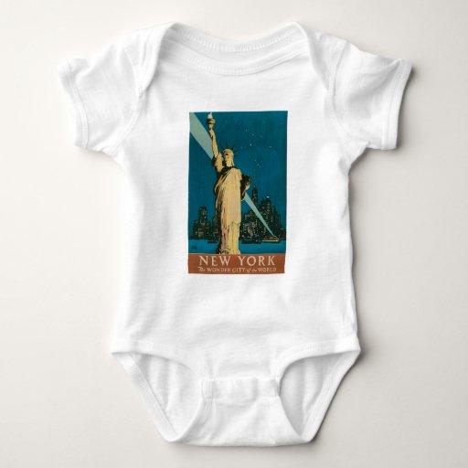 Nueva York: La ciudad de la maravilla del poster Body Para Bebé