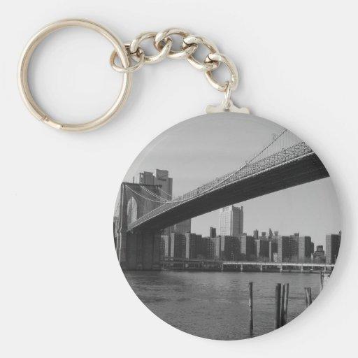Nueva York Llavero Redondo Tipo Pin