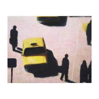 Nueva York lleva en taxi 1990 Lona Envuelta Para Galerías