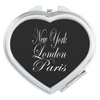 Nueva York Londres París - cita de la tipografía Espejos Para El Bolso