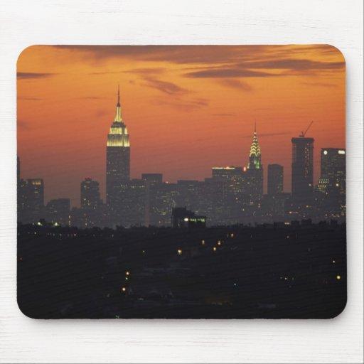 Nueva York, los E.E.U.U. Horizonte de Manhattan de Tapete De Raton