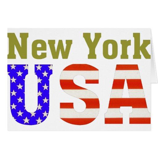 ¡Nueva York los E.E.U.U.! Tarjetas
