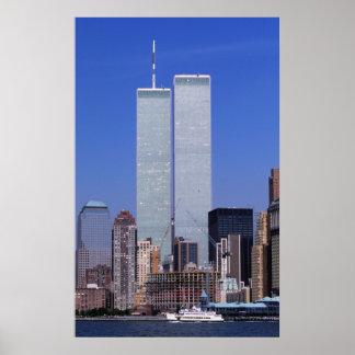 Nueva York, los E.E.U.U. Torres gemelas del mundo  Posters
