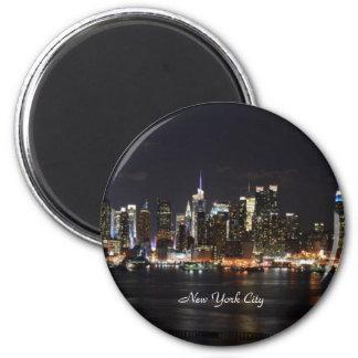 Nueva York: Luces brillantes, luces de la ciudad Imán Redondo 5 Cm