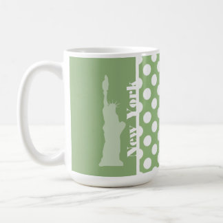 Nueva York; Lunares verdes del laurel Taza De Café