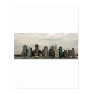 Nueva York - Mahattan de Brooklyn Tarjeta Postal