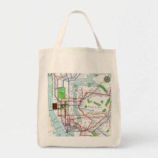 Nueva York: Mapa del subterráneo, 1940 Bolsa Tela Para La Compra