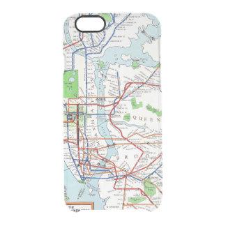 Nueva York: Mapa del subterráneo, 1940 Funda Clearly™ Deflector Para iPhone 6 De Uncommon