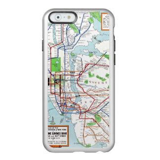 Nueva York: Mapa del subterráneo, 1940 Funda Para iPhone 6 Plus Incipio Feather Shine