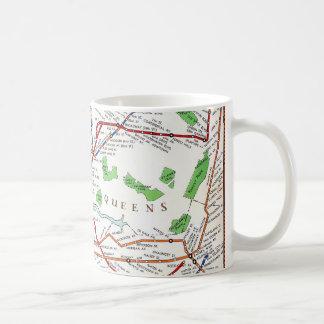 Nueva York: Mapa del subterráneo, 1940 Taza De Café
