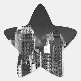 Nueva York, metálica Pegatina