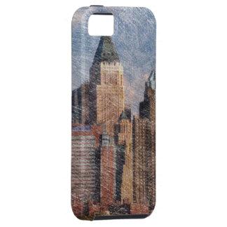 Nueva York, mirada del lápiz iPhone 5 Case-Mate Protector