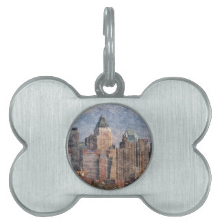 Nueva York, mirada del lápiz Placa Mascota
