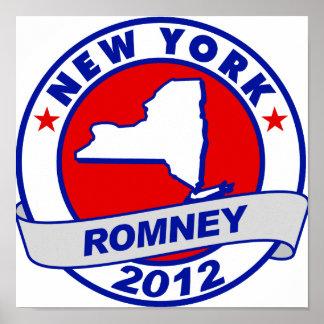 Nueva York Mitt Romney Poster