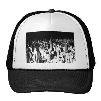 Nueva York negra y blanca Gorras De Camionero