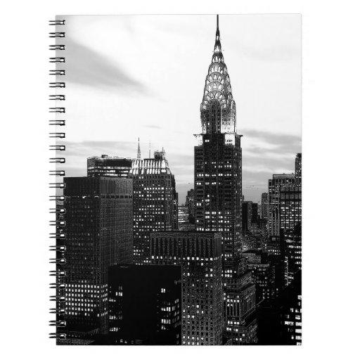 Nueva York negra y blanca Libreta Espiral