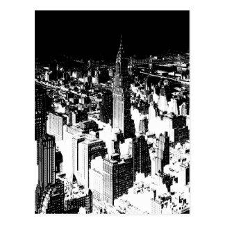 Nueva York negra y blanca Postales