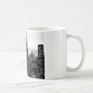 Nueva York negra y blanca Taza De Café