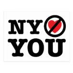Nueva York no le ama parodia ny del amor de i Tarjeta Postal