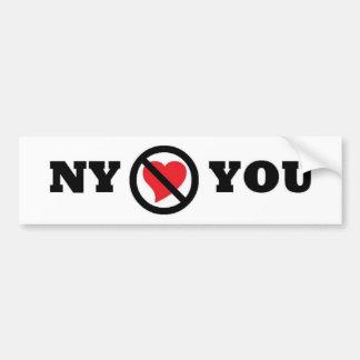 Nueva York no le ama pegatina para el parachoques Pegatina Para Auto