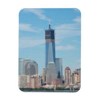 Nueva York, Nueva York. Horizonte de la ciudad de Imán De Vinilo