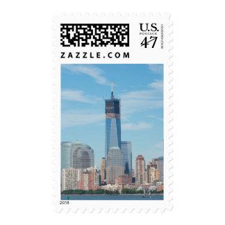 Nueva York, Nueva York. Horizonte de la ciudad de Sello Postal