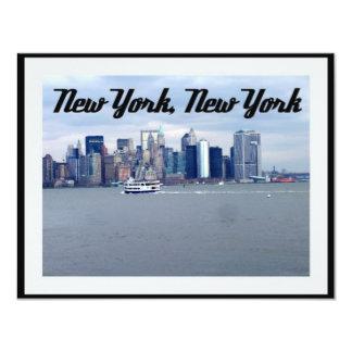 """Nueva York, Nueva York Invitación 4.25"""" X 5.5"""""""