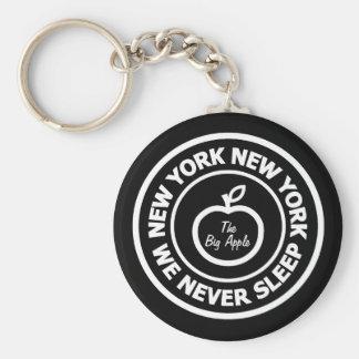 Nueva York Nueva York Llavero Redondo Tipo Pin