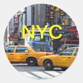 Nueva York, Nueva York Pegatina Redonda