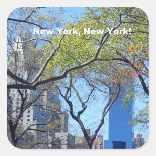 ¡Nueva York, Nueva York! Pegatinas Cuadradases