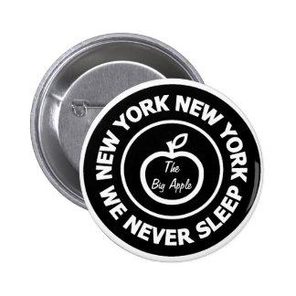 Nueva York Nueva York Pin Redondo De 2 Pulgadas