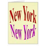 Nueva York Nueva York Tarjeta De Felicitación